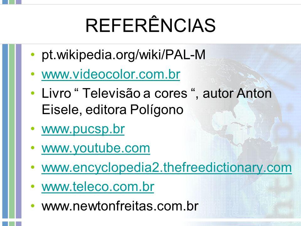 REFERÊNCIAS pt.wikipedia.org/wiki/PAL-M www.videocolor.com.br