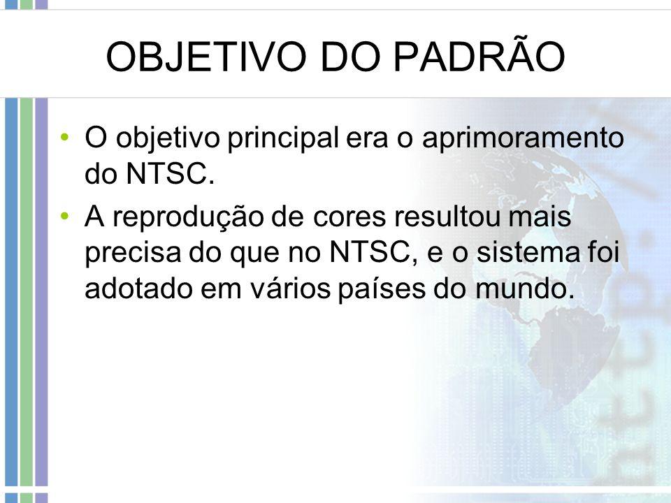 OBJETIVO DO PADRÃO O objetivo principal era o aprimoramento do NTSC.