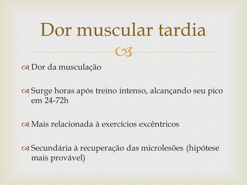 Dor muscular tardia Dor da musculação