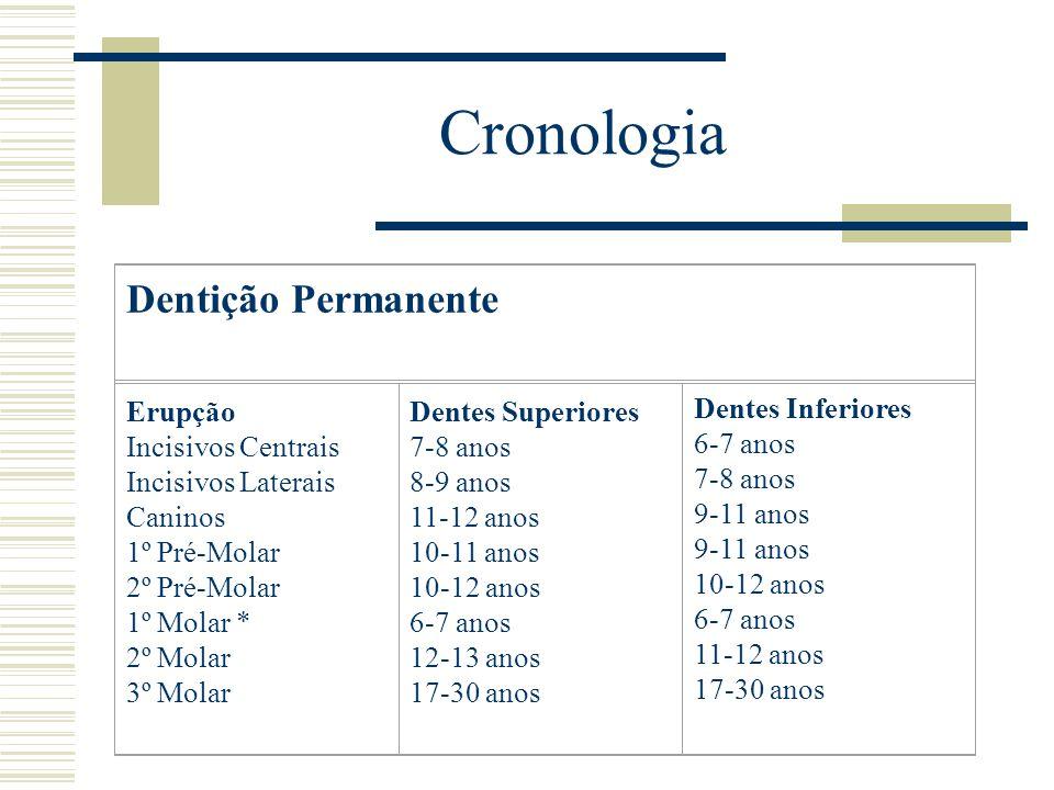 Cronologia Dentição Permanente