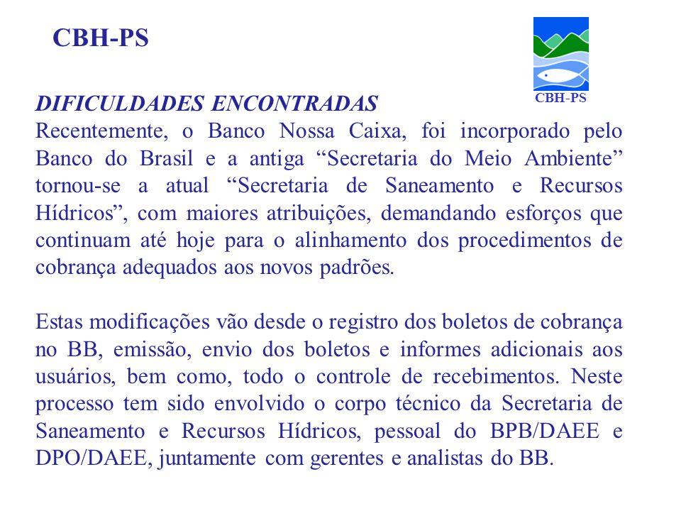 CBH-PS DIFICULDADES ENCONTRADAS
