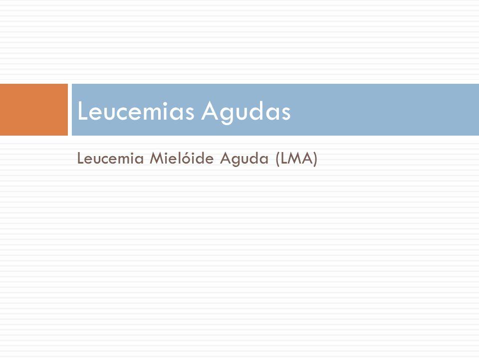 Leucemias Agudas Leucemia Mielóide Aguda (LMA)