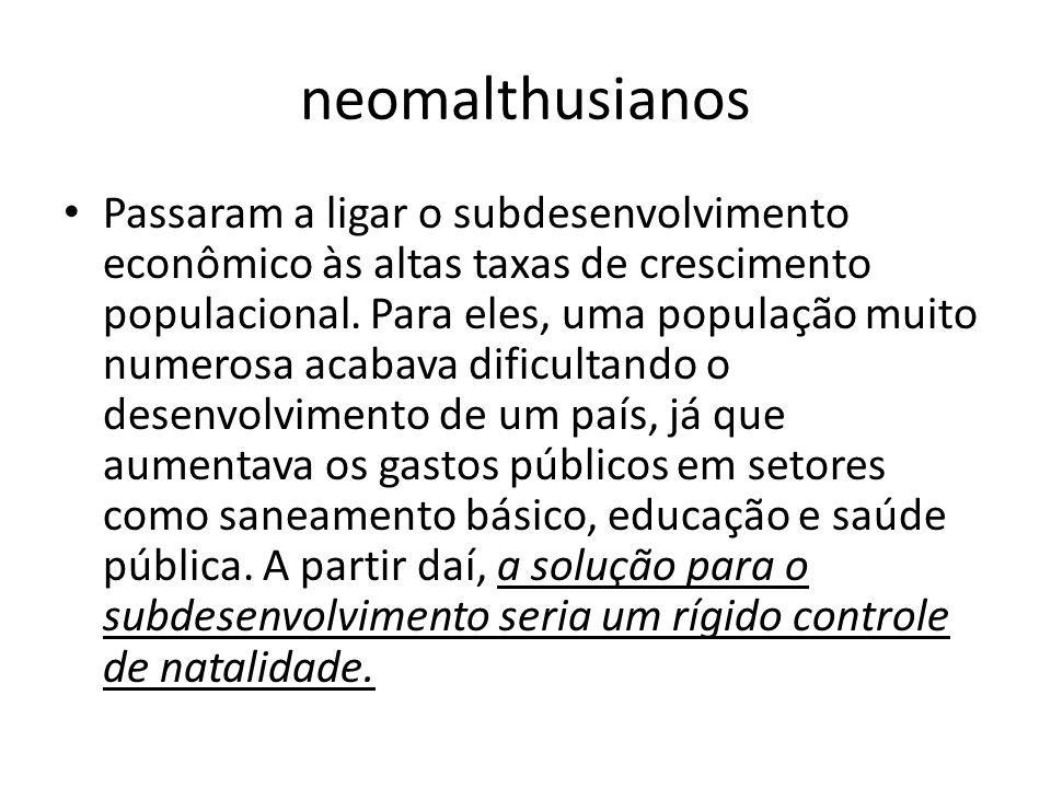 neomalthusianos