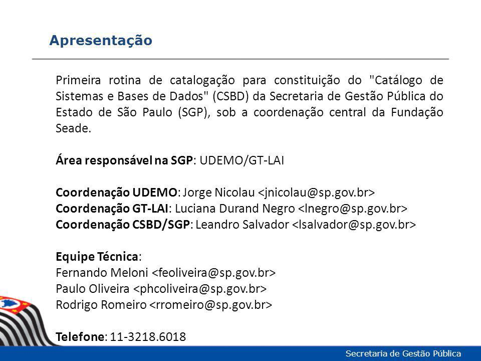 Área responsável na SGP: UDEMO/GT-LAI