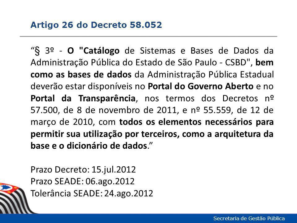 Artigo 26 do Decreto 58.052
