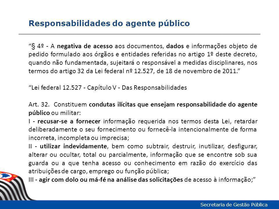 Responsabilidades do agente público