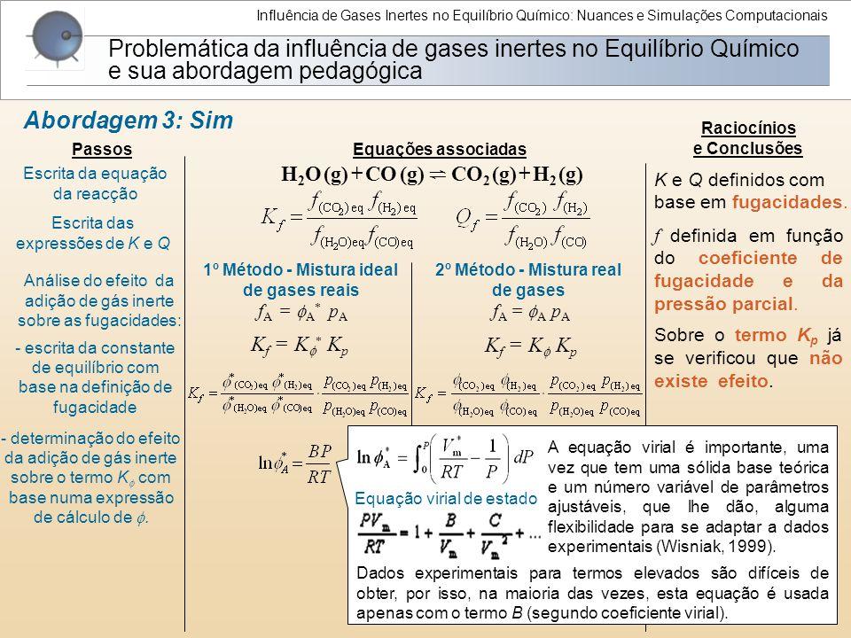 Influência de Gases Inertes no Equilíbrio Químico: Nuances e Simulações Computacionais
