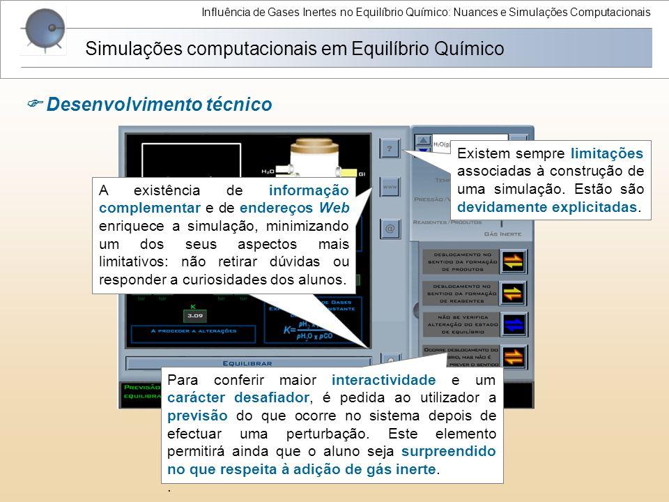 Simulações computacionais em Equilíbrio Químico