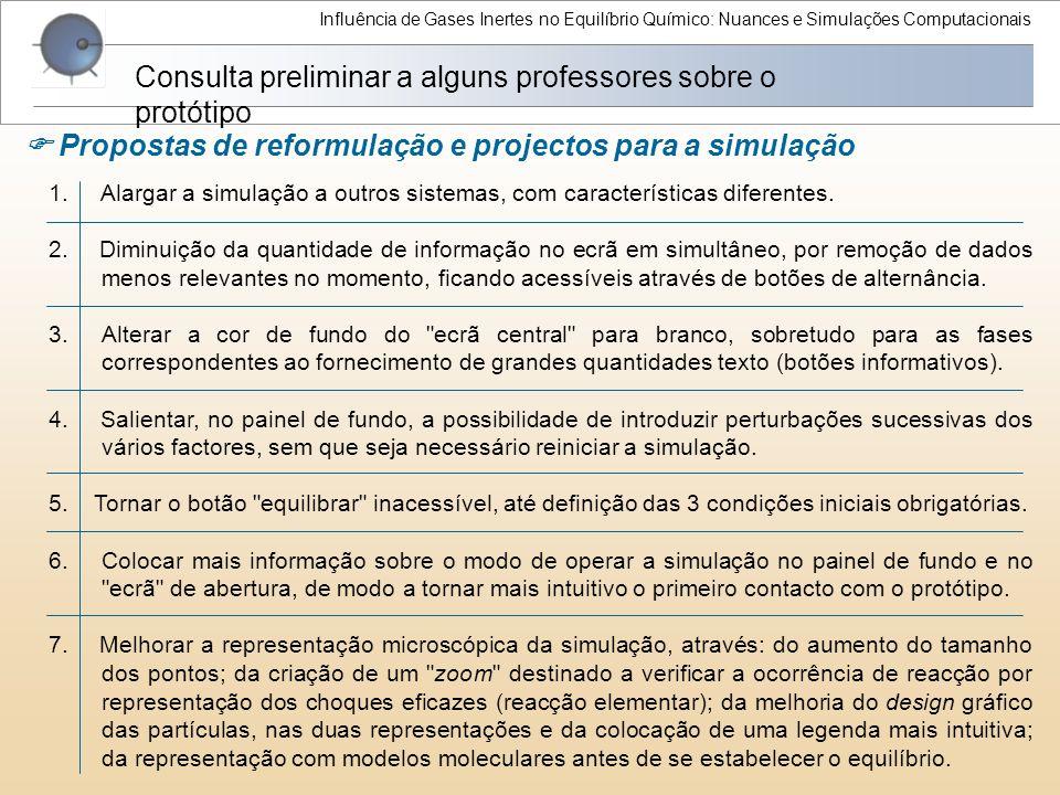 Consulta preliminar a alguns professores sobre o protótipo
