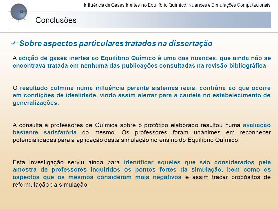  Sobre aspectos particulares tratados na dissertação