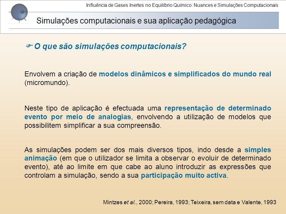 Simulações computacionais e sua aplicação pedagógica
