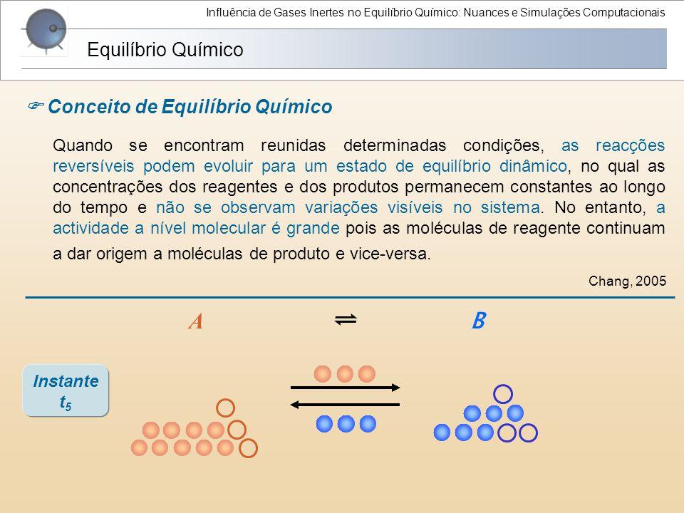 A ⇌ B Equilíbrio Químico  Conceito de Equilíbrio Químico