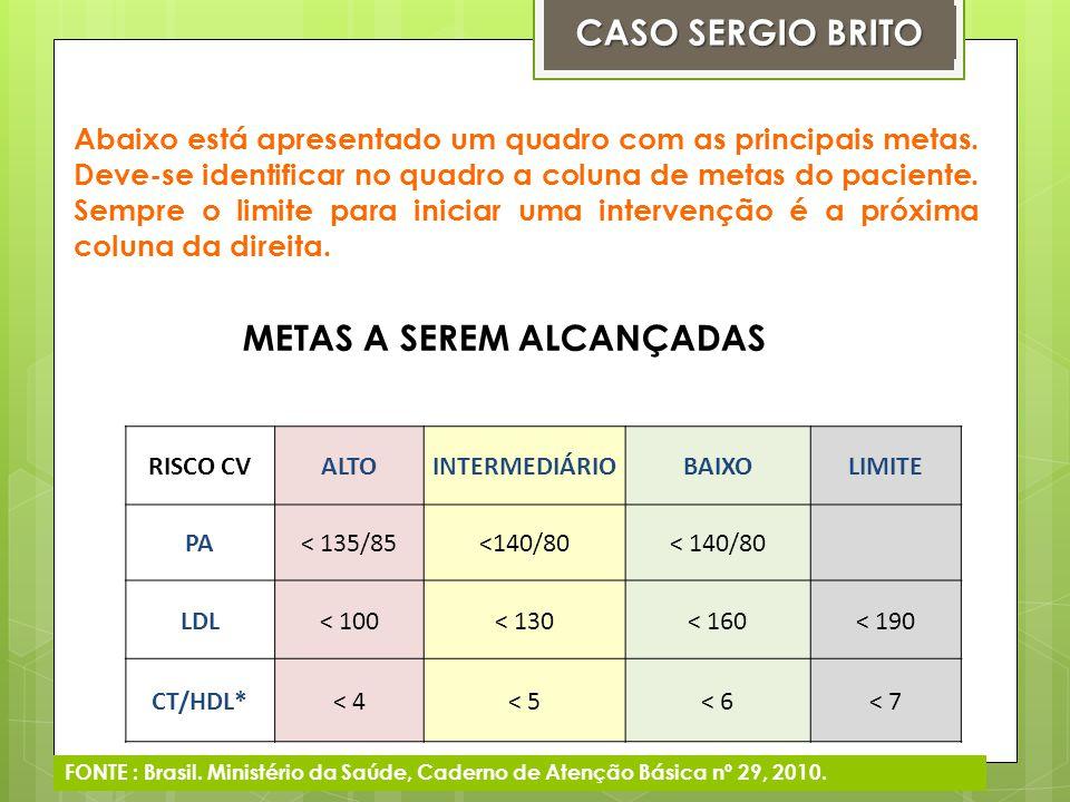 CASO SERGIO BRITO METAS A SEREM ALCANÇADAS