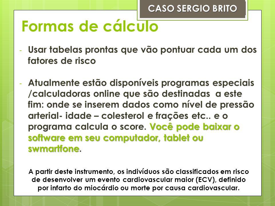 Formas de cálculo CASO SERGIO BRITO