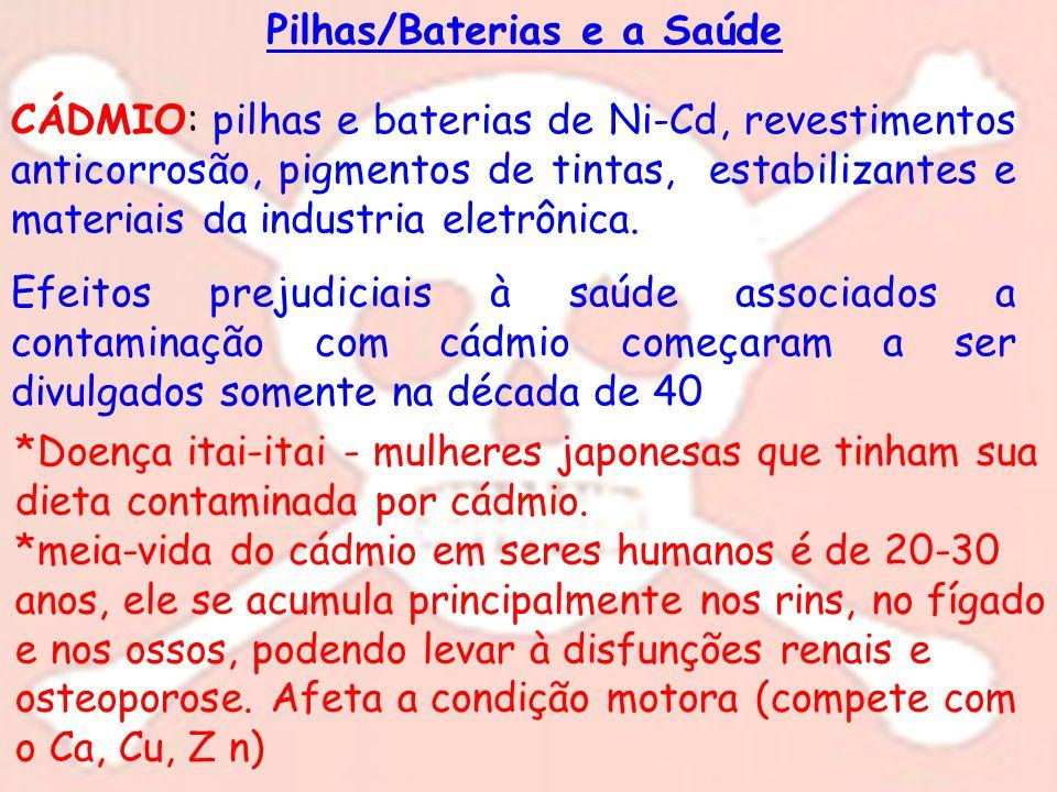 Pilhas/Baterias e a Saúde