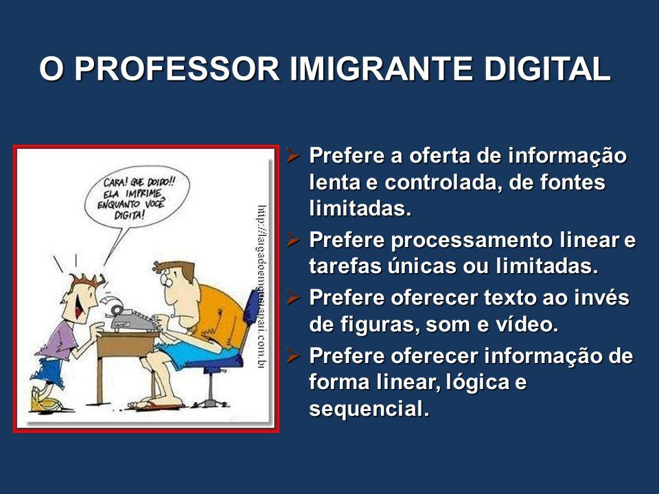 O PROFESSOR IMIGRANTE DIGITAL