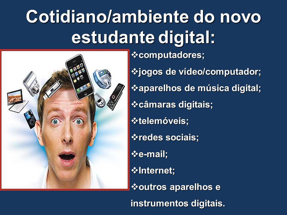 Cotidiano/ambiente do novo estudante digital: