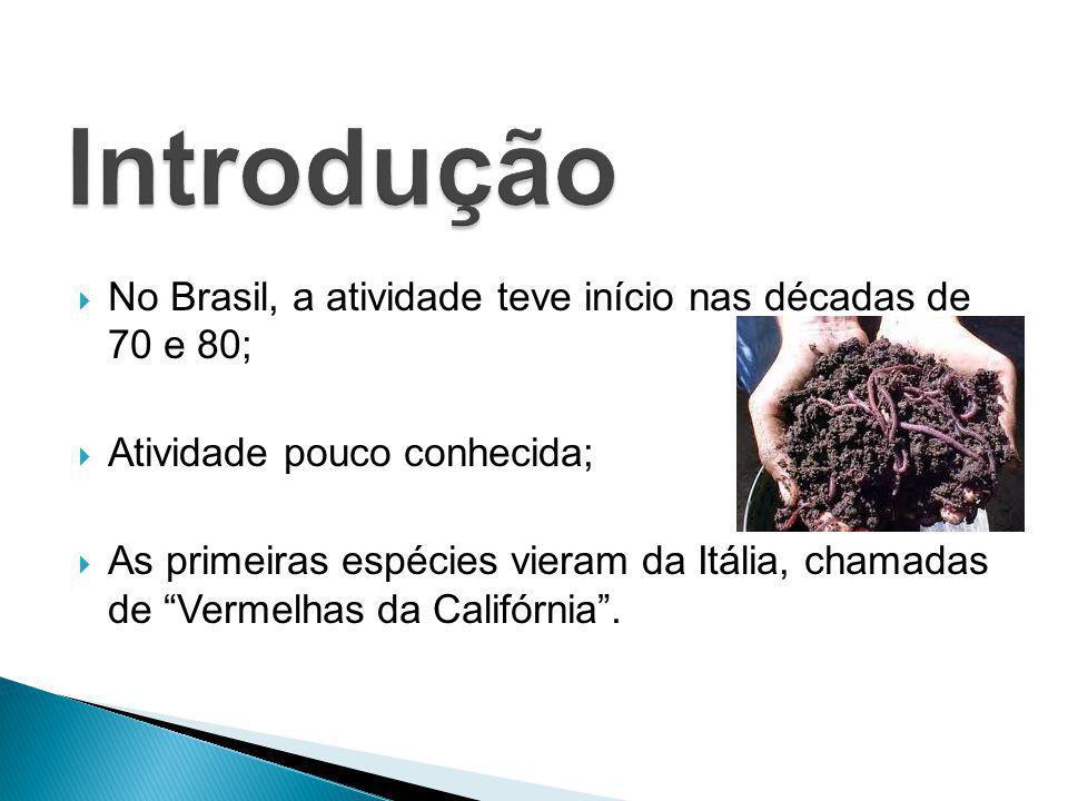 Introdução No Brasil, a atividade teve início nas décadas de 70 e 80;