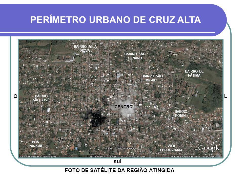FOTO DE SATÉLITE DA REGIÃO ATINGIDA