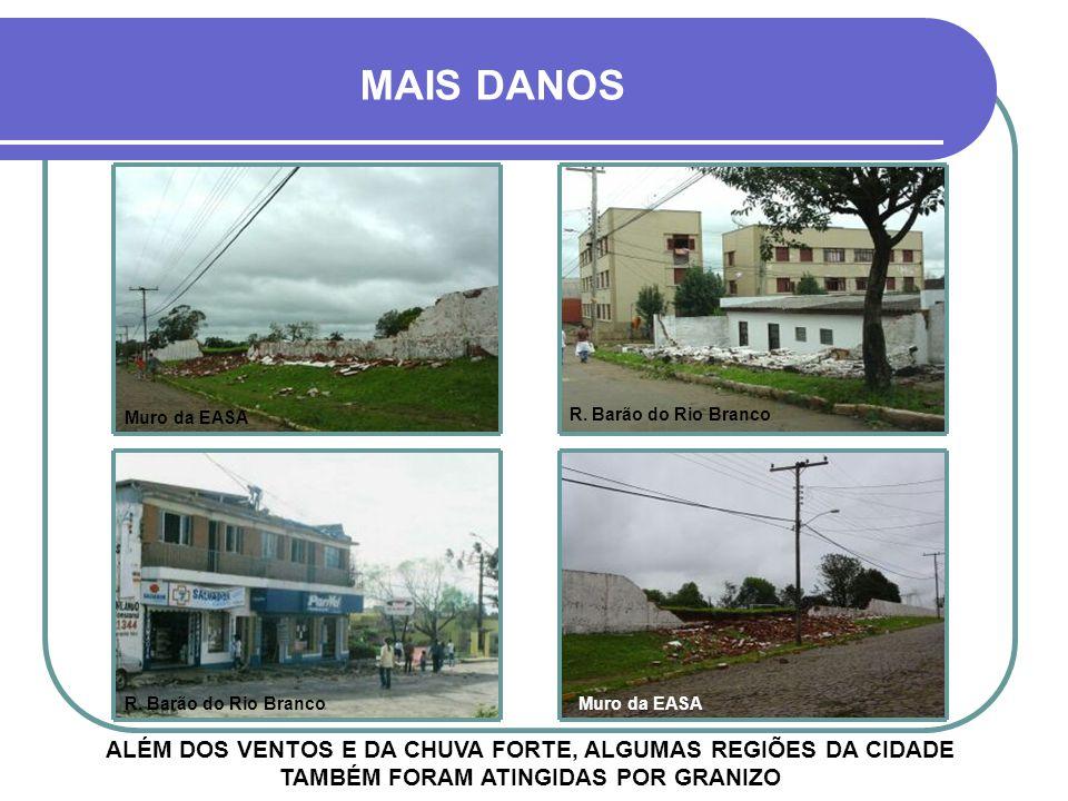 MAIS DANOS Muro da EASA. R. Barão do Rio Branco. R. Barão do Rio Branco. Muro da EASA.