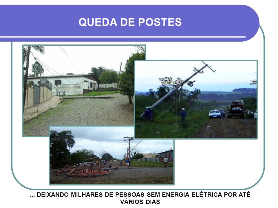 QUEDA DE POSTES ... DEIXANDO MILHARES DE PESSOAS SEM ENERGIA ELÉTRICA POR ATÉ VÁRIOS DIAS