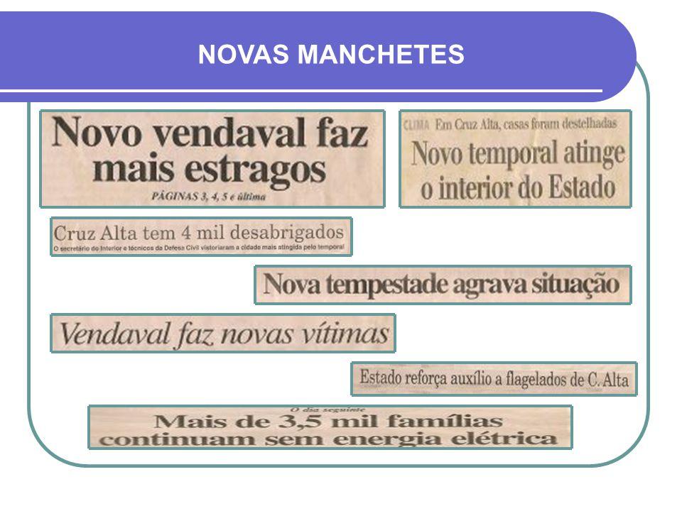 NOVAS MANCHETES