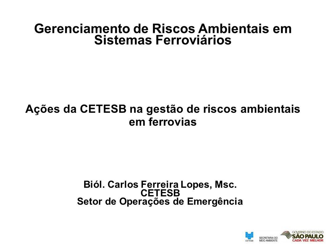 Gerenciamento de Riscos Ambientais em Sistemas Ferroviários