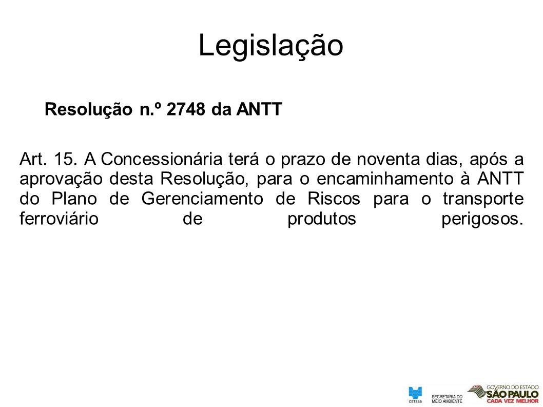 Legislação Resolução n.º 2748 da ANTT