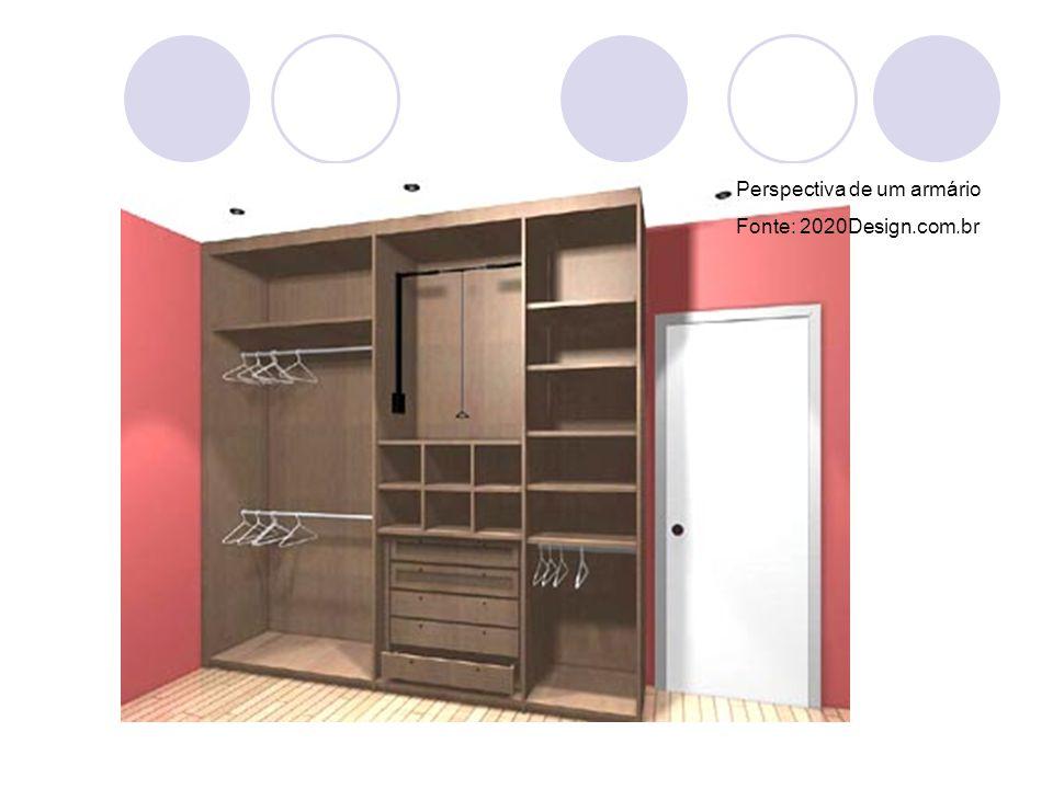 Perspectiva de um armário