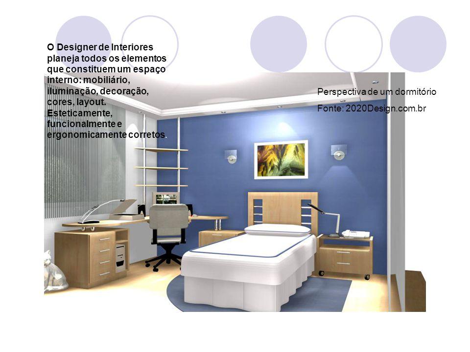 O Designer de Interiores planeja todos os elementos que constituem um espaço interno: mobiliário, iluminação, decoração, cores, layout. Esteticamente, funcionalmente e ergonomicamente corretos.