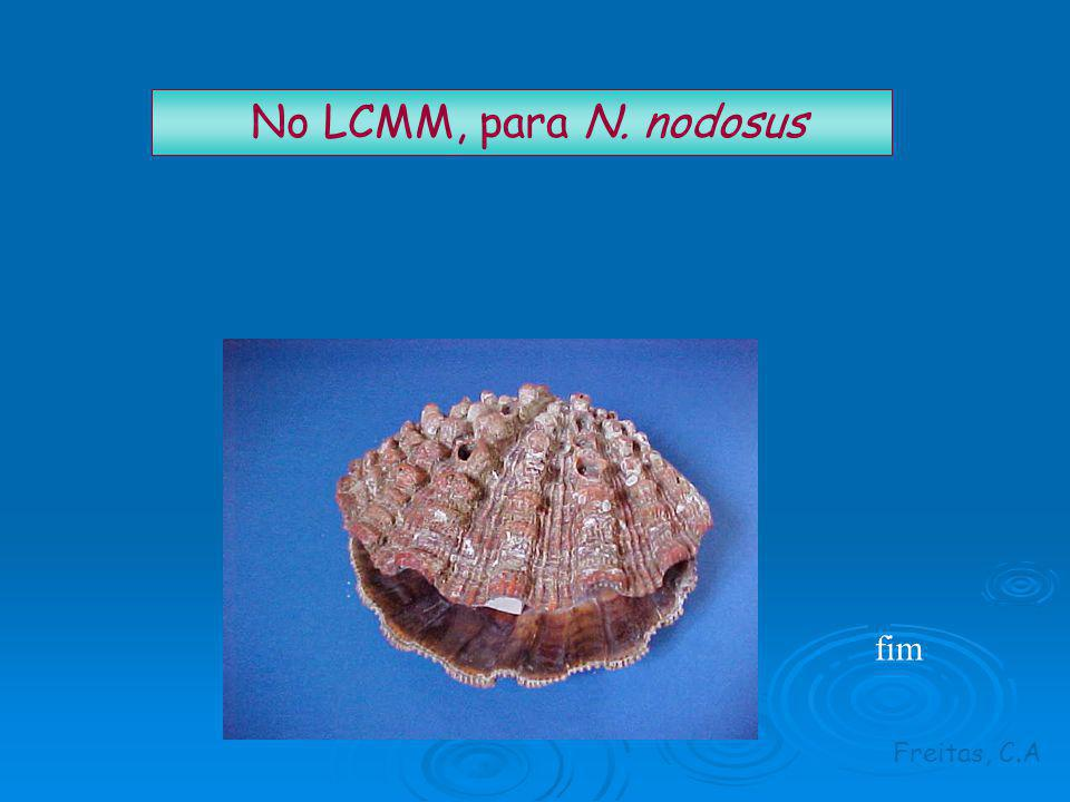 No LCMM, para N. nodosus fim Freitas, C.A