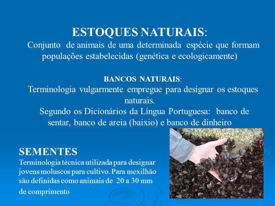 Terminologia vulgarmente empregue para designar os estoques naturais.