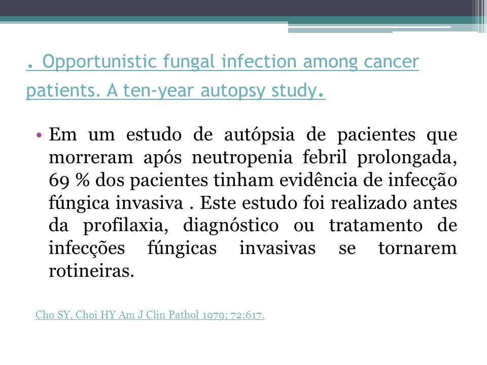 Opportunistic fungal infection among cancer patients