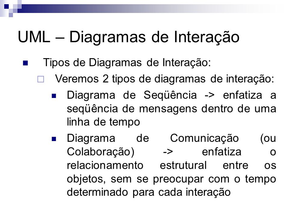 UML – Diagramas de Interação