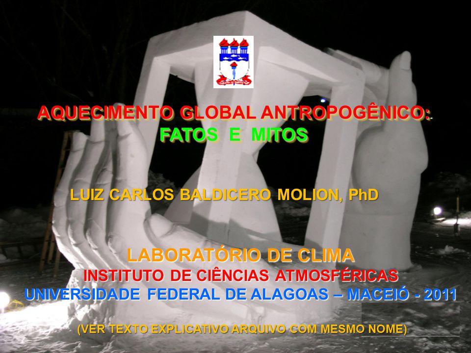 AQUECIMENTO GLOBAL ANTROPOGÊNICO: FATOS E MITOS LABORATÓRIO DE CLIMA