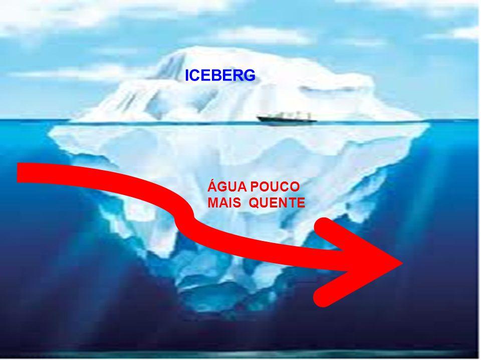 ICEBERG ÁGUA POUCO MAIS QUENTE