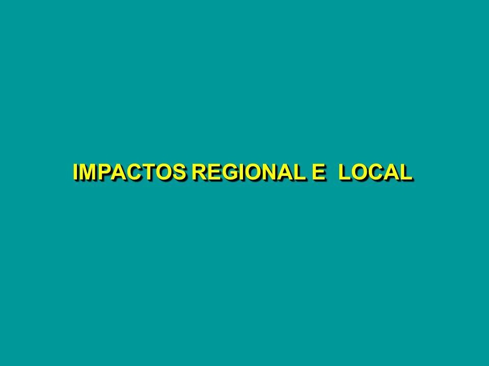 IMPACTOS REGIONAL E LOCAL
