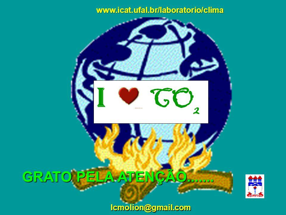 I CO2 GRATO PELA ATENÇÃO....... www.icat.ufal.br/laboratorio/clima