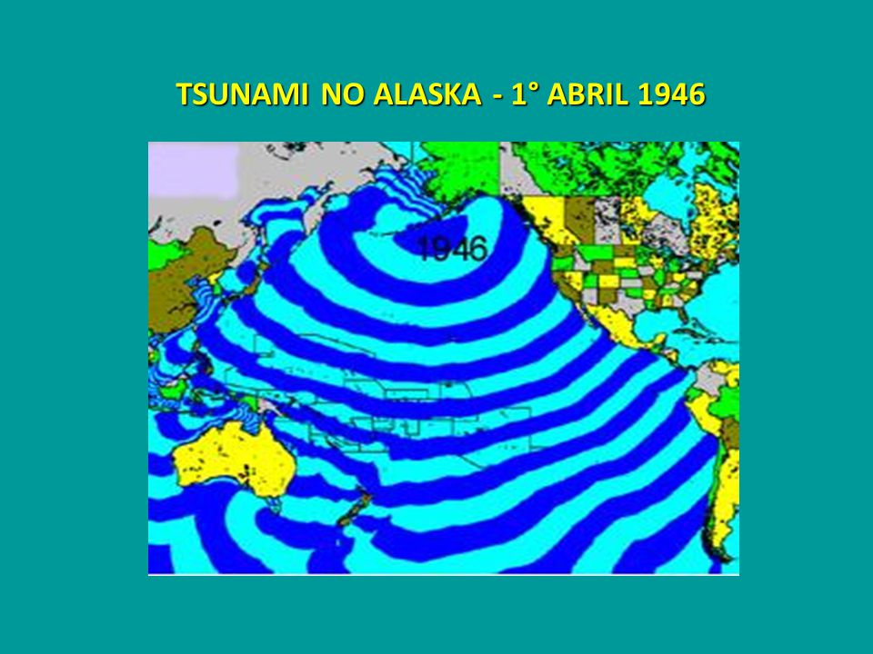 TSUNAMI NO ALASKA - 1° ABRIL 1946