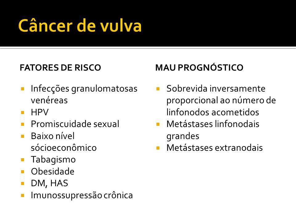 Câncer de vulva Infecções granulomatosas venéreas HPV