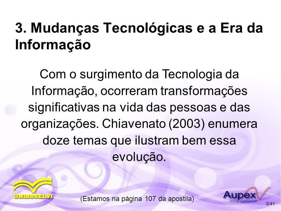 3. Mudanças Tecnológicas e a Era da Informação