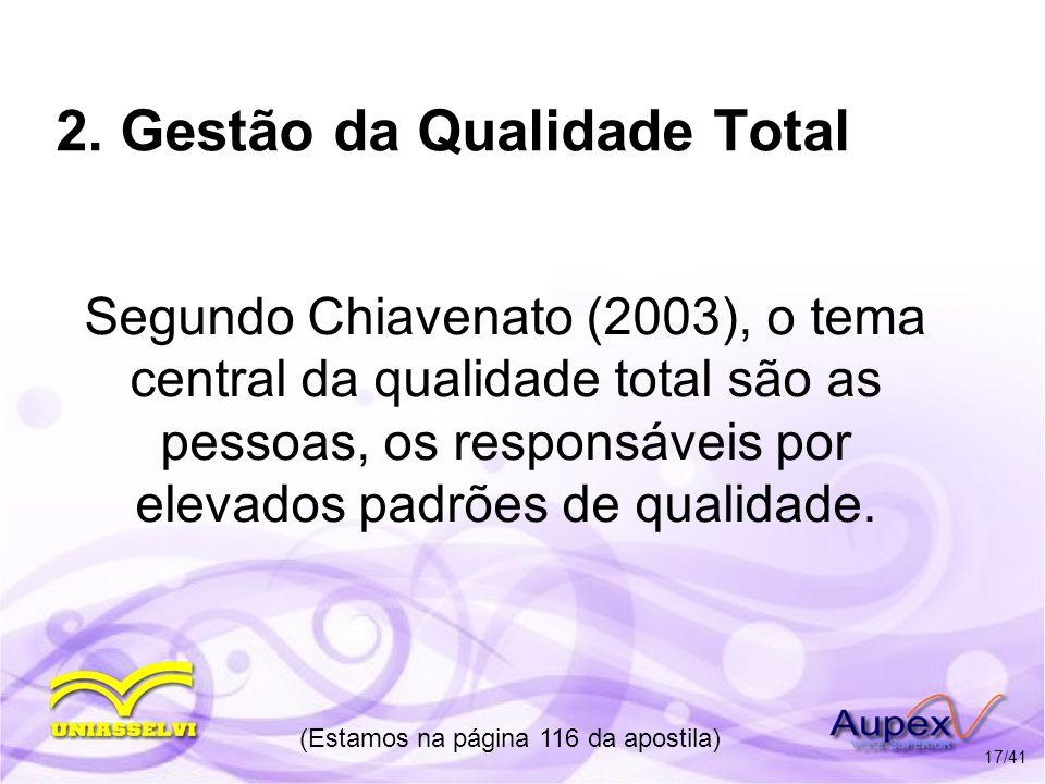 2. Gestão da Qualidade Total