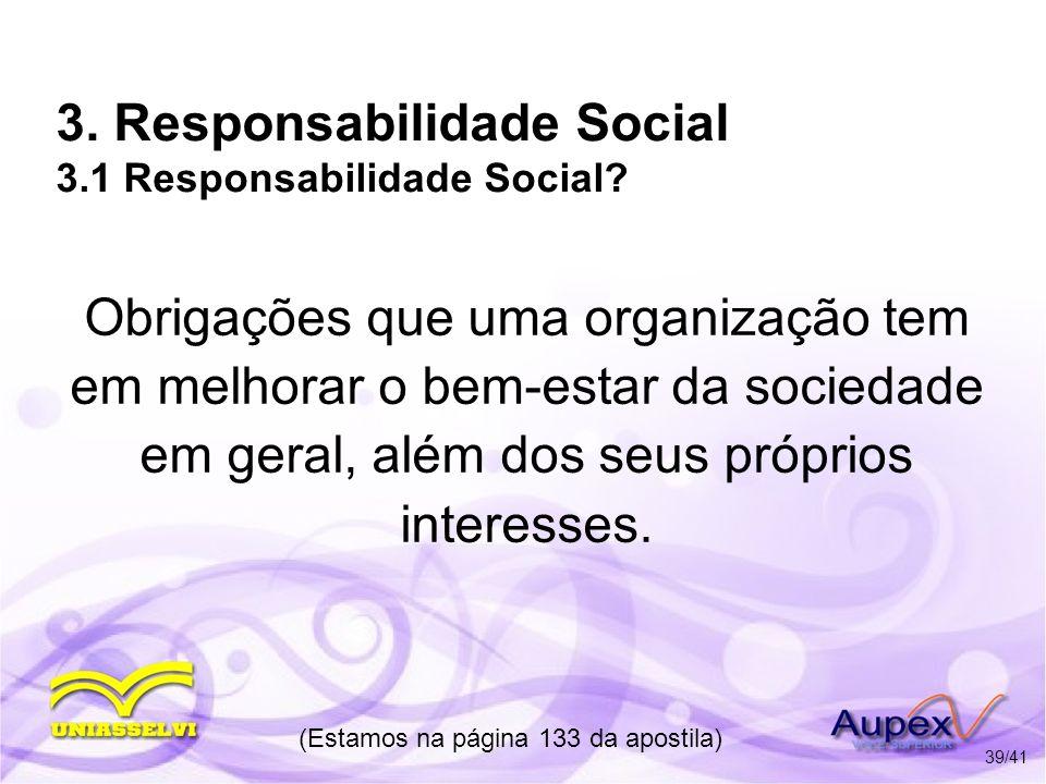 3. Responsabilidade Social 3.1 Responsabilidade Social