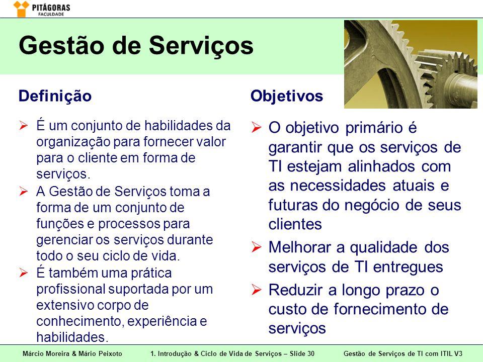 Gestão de Serviços Definição Objetivos