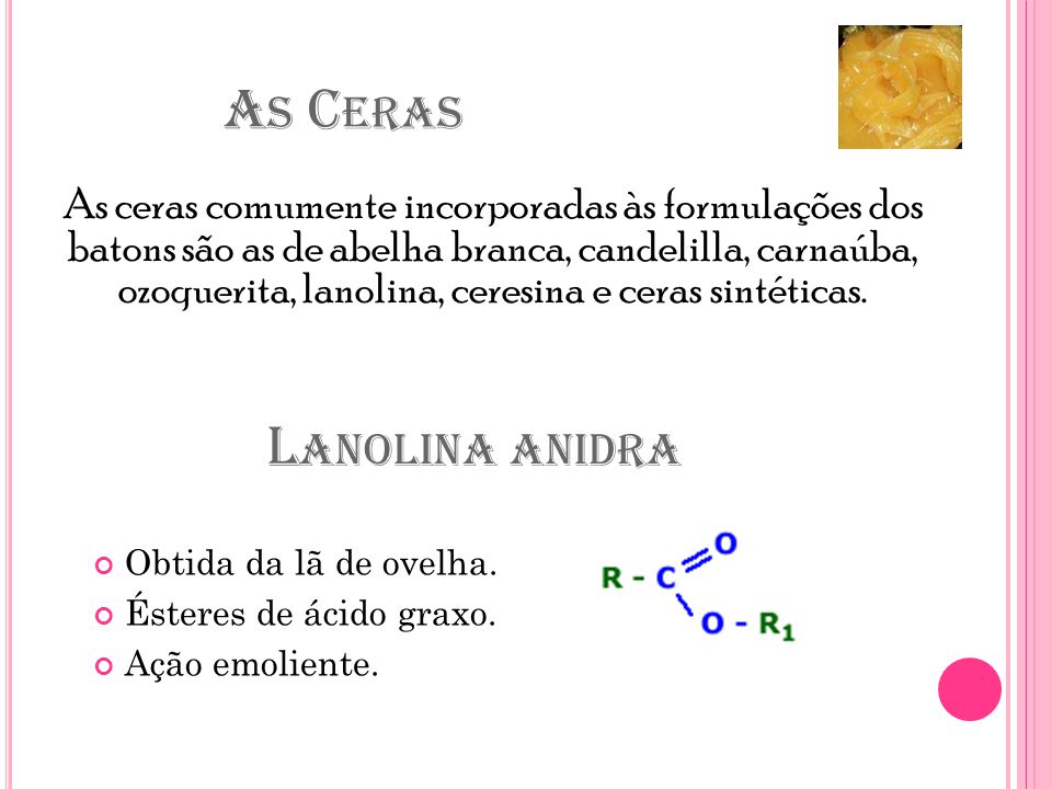 As Ceras Lanolina anidra