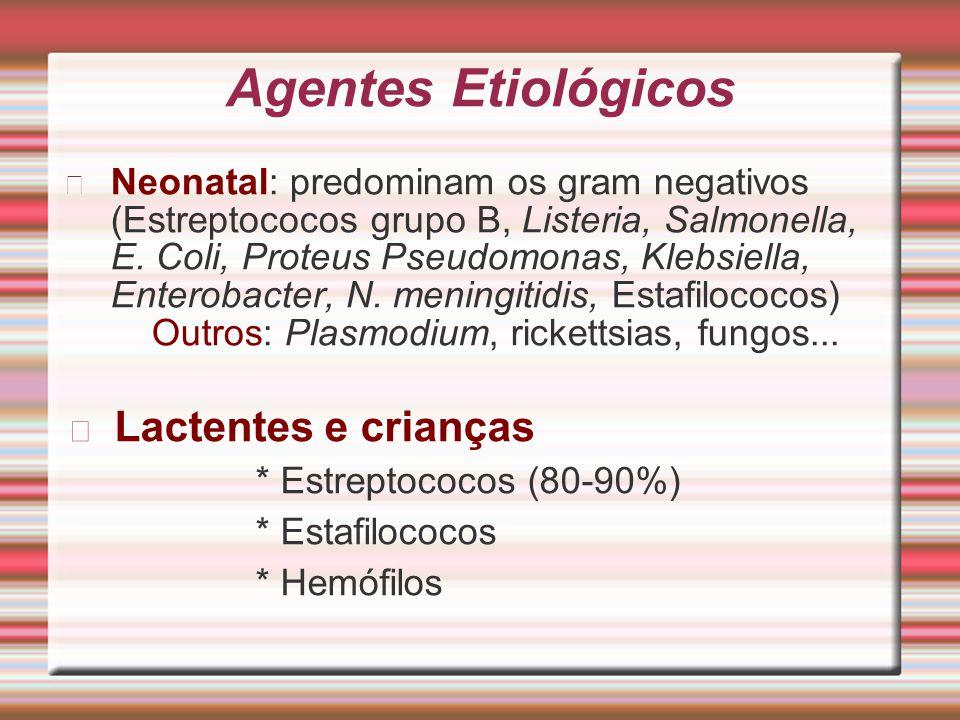 Agentes Etiológicos Lactentes e crianças