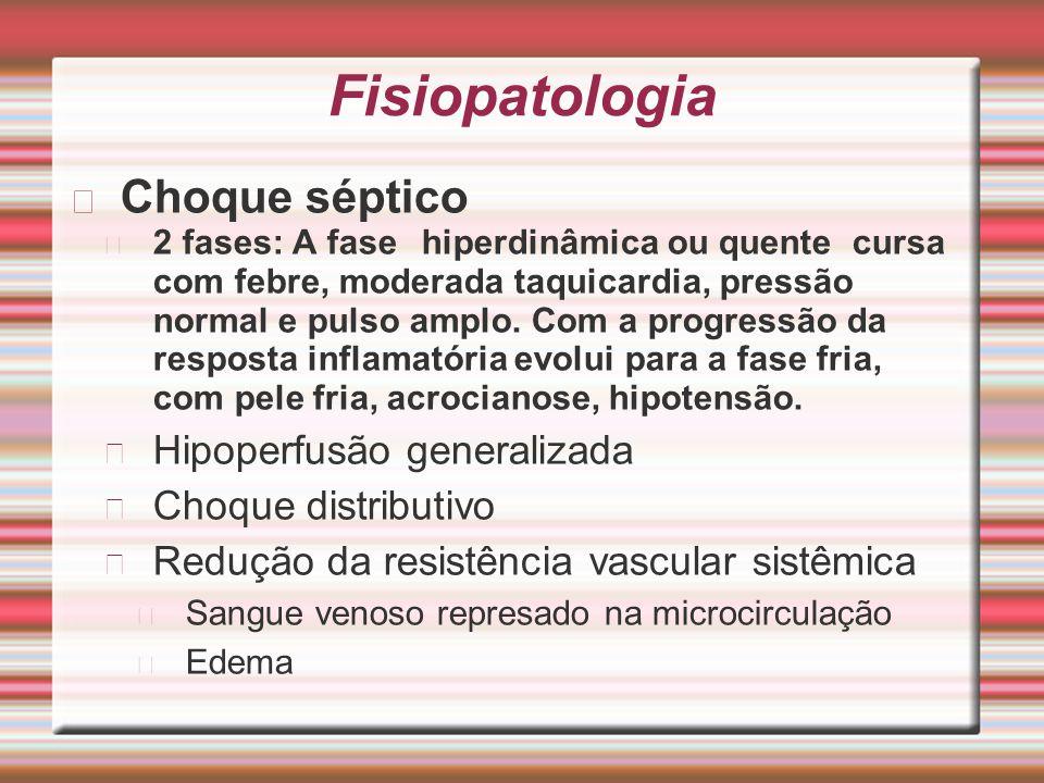 Fisiopatologia Choque séptico Hipoperfusão generalizada