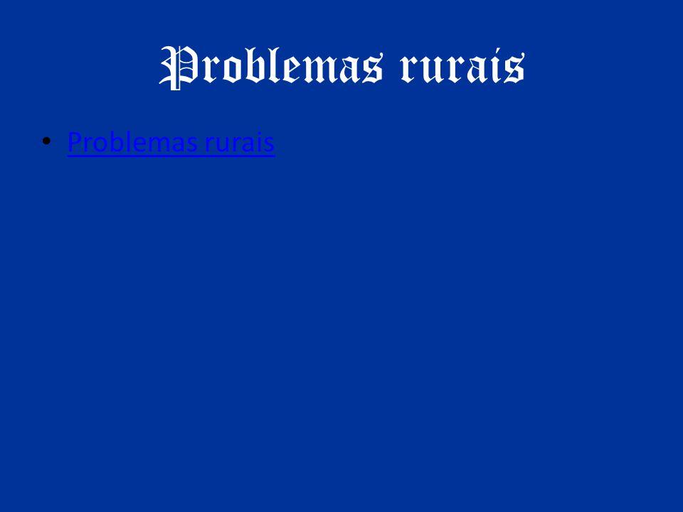 Problemas rurais Problemas rurais