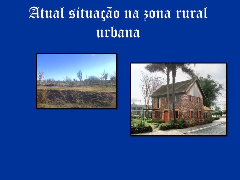 Atual situação na zona rural urbana