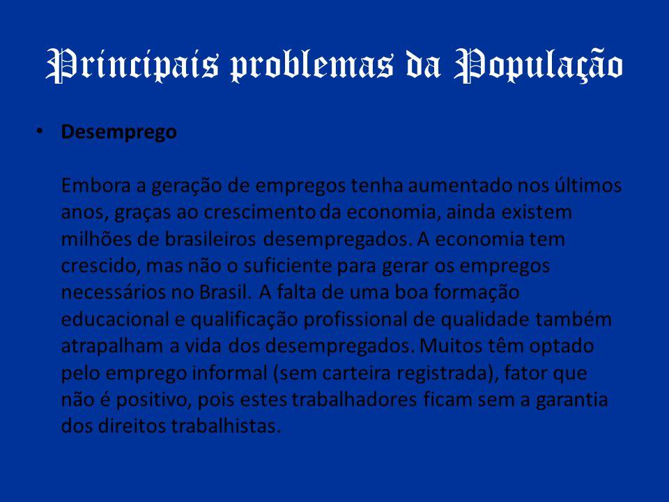 Principais problemas da População